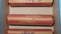 ROLL OF CIRCULATED PHILADELPHIA 1930'S LINCOLN WHEAT CENTS, 50 COINS TOTAL