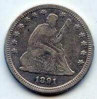 1891 SEATED LIBERTY QUARTER    SEE PROMO