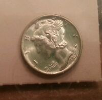 1937 MERCURY DIME TERRIFIC COLOR SUPERB GEM   HS