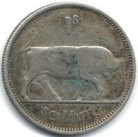 1939 IRELAND SILVER ONE SHILLINGCOLLECTORS