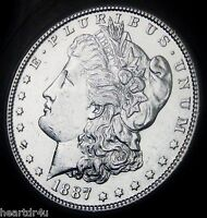 1887 S MORGAN SILVER DOLLAR  NEAR CHOICE BRILLIANT UNCIRCULATED   FAST DELIVERY