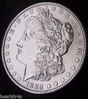 1885 O MORGAN DOLLAR  ALMOST UNCIRCULATED   FAST SHIPPING   FAST COIN DELIVERY