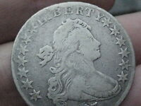 1803 DRAPED BUST HALF DOLLAR-  COIN, VG/FINE DETAILS