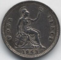 1843 VICTORIA SILVER FOURPENCE/GROATCOLLECTORS