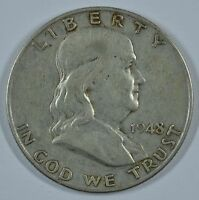 1948 D FRANKLIN SILVER CIRCULATED HALF DOLLAR  SEE STORE FOR DISCOUNTS GR45