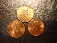 1984 BRASS COLORED & 1984 COPPER PLATE.  LINCOLN  CENTS    WE COMBINE SHIPPING