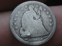 1854 SEATED LIBERTY HALF DIME WITH ARROWS   LARGE DATE