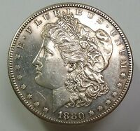 1880 S VAM DOUBLE DATE SILVER MORGAN DOLLAR $1 US COIN ITEM 6815