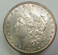 1880 S VAM DOUBLE DATE SILVER MORGAN DOLLAR $1 US COIN ITEM 6816