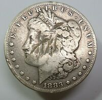 1883 S BENT SILVER MORGAN DOLLAR $1 US COIN ITEM 6830
