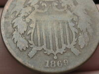 1869 TWO 2 CENT PIECE- FULL DATE- VG/ GOOD DETAILS