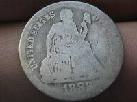 1888 P SEATED LIBERTY DIME  OLD TYPE COIN