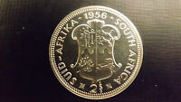 SOUTH AFRICA PROOF 2 SHILLING 1956 STUNNING ONLY 1700 MINTAGE