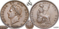 INI  GREAT BRITAIN GEORGE IV PENNY 1826  TYPE WITH THIN LINE XF