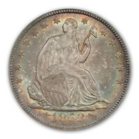 1853 O 50C ARROWS AND RAYS LIBERTY SEATED HALF DOLLAR PCGS MS64