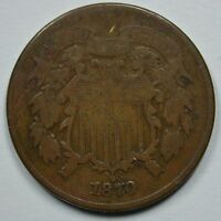 1870 SHIELD 2 CENT COIN  VG DETAILS  SEE STORE FOR DISCOUNTS BR03