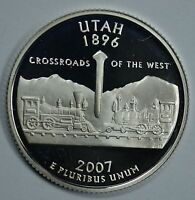 2007 UTAH STATE SILVER PROOF QUARTER    SEE STORE FOR DISCOUNTS BR14