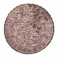 1736 8 REALES SUNKEN TREASURE FROM THE HOLLANDIA WITH COA  155 525