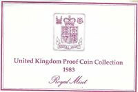 1983 GREAT BRITAIN 8 COIN 2 PAGE C.O.A. DOCUMENT SET