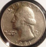 1981 P CIRCULATED WASHINGTON QUARTERS CHECK OUT