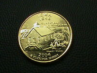 UNITED STATES     25 CENTS   2004    GOLD  PLATED       IOWA