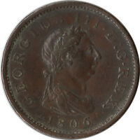 1806 GREAT BRITAIN UK 1 PENNY LARGE COIN GEORGE LLL KM663