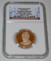 2014 S $1 HARDING PROOF PRESIDENTIAL DOLLAR GRADED BY NGC AS PF 70 ULTRA CAMEO