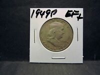 VERY   1949P  90 SILVER  FRANKLIN HALF DOLLAR LY FINE  45 CONDITION