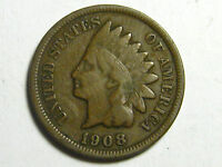 1908 & 1908 S INDIAN HEAD CENTS                      VF