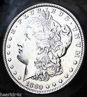 1880  MORGAN DOLLAR   ALMOST UNCIRCULATED   BEST TIME TO BUY SILVER IN YEARS