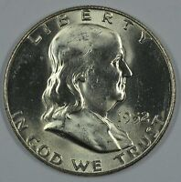 1952 D FRANKLIN SILVER UNCIRCULATED HALF DOLLAR BU D?DGR04