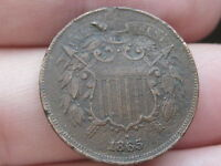 1865 2 TWO CENT PIECE- VF/EXTRA FINE  DETAILS- FULL DATE, WE FAINT