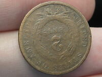 1864 TWO 2 CENT PIECE-  ROTATED REVERSE MINT ERROR