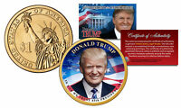 DONALD TRUMP 45TH PRESIDENT OFFICIAL COLORIZED 2016 PRESIDENTIAL DOLLAR $1 COIN