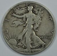 1943 D WALKING LIBERTY SILVER HALF DOLLAR SEE STORE FOR DISCOUNTS YE33