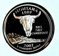 2007 S MONTANA STATE CLAD PROOF QUARTER   SEE STORE FOR DISCOUNTS  OR18