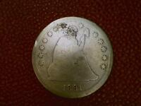 WOW 1891 SEATED LIBERTY SILVER QUARTER DOLLAR COIN  BV87