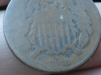 1868 TWO 2 CENT PIECE- CIVIL WAR TYPE COIN