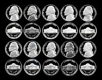 1980 1989S INC 1981 TYPE 2 JEFFERSON NICKELS MASTER DECADE SET   11 COINS