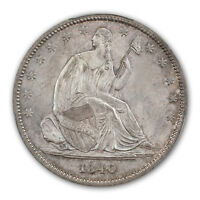 1840 50C REVERSE OF 1839 LIBERTY SEATED HALF DOLLAR PCGS MS65