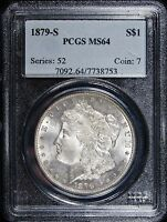 1879 S  PCGS MINT STATE 64  MORGAN SILVER DOLLAR - 753