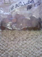 BAG OF 1930'S WHEAT CENTS