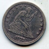 1877 SEATED LIBERTY QUARTER    SEE PROMO