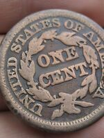 1849 BRAIDED HAIR LARGE CENT VG/FINE DETAILS