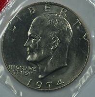 1974 D EISENHOWER UNCIRCULATED DOLLAR IN MINT CELLO SEE STORE FOR DISCOUNTBL29