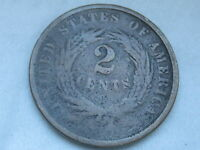 1864 TWO 2 CENT PIECE  LARGE MOTTO CIVIL WAR TYPE COIN