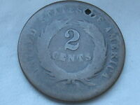 1864 1872 TWO 2 CENT PIECE  CIVIL WAR TYPE COIN LOWBALL