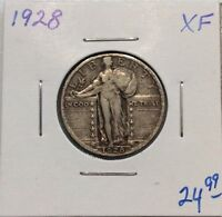 1928 STANDING LIBERTY SILVER QUARTER IN XF CONDITION