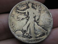 1920 P SILVER WALKING LIBERTY HALF DOLLAR  GOOD/VG DETAILS TONED