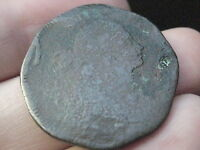 1797 DRAPED BUST LARGE CENT PENNY- STEMLESS-  COIN